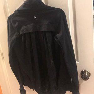 Lululemon black mesh zip up.